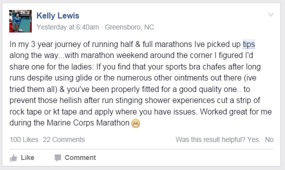 Marathon tip and advice