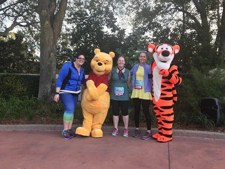 Winnie the pooh at 5K runDisney Marathon weekend
