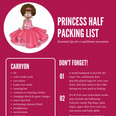 Packing for the Princess Half Marathon Weekend
