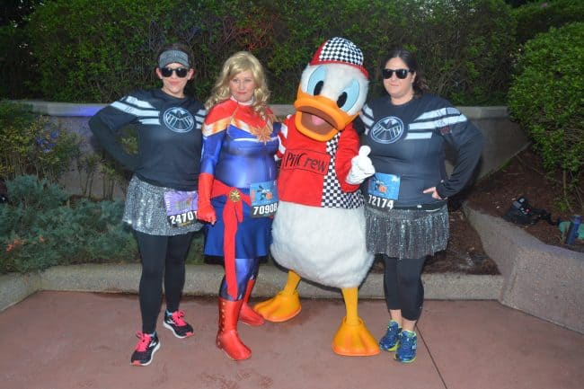 rundisney character stops race track donald best runDisney advice wear a costume- or not!