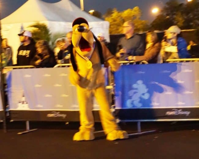 ESPN Pluto at finish line disney world half marathon