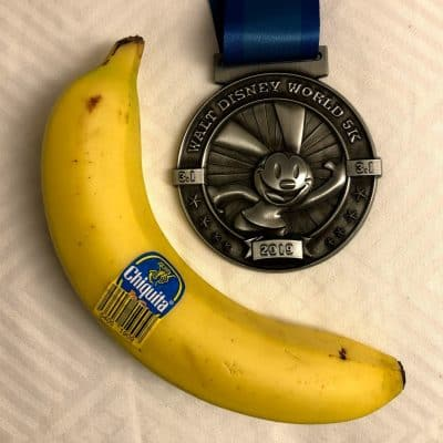 5K rundisney medal and Chiquita Banana