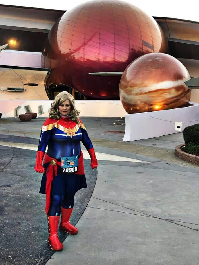 Captain Marvel running costume