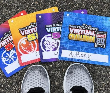 2019 runDisney virtual race bibs