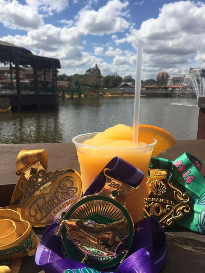 margaritas and medals princess half marathon at disney springs