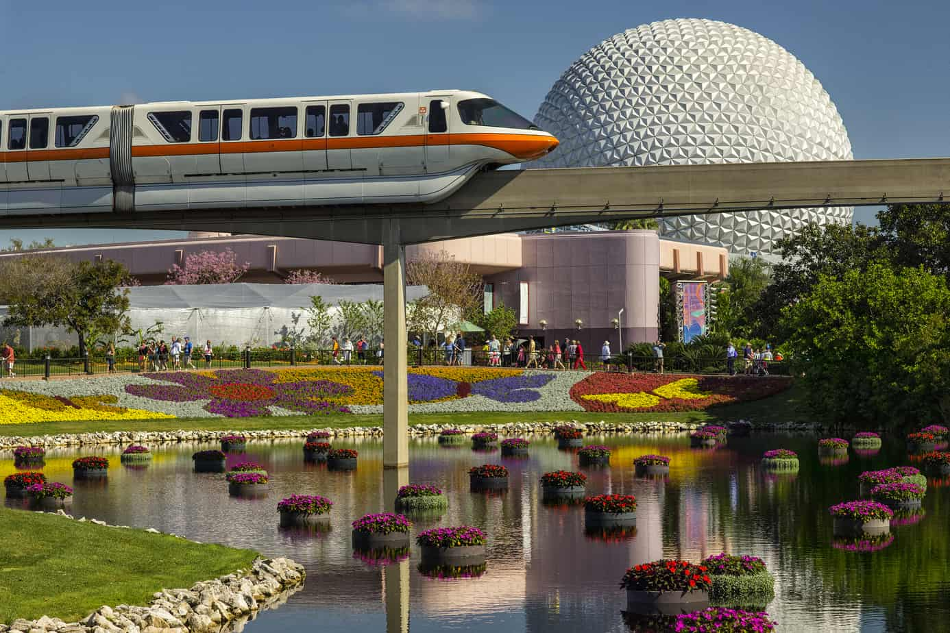 Epcot flower and garden festival monorail picture