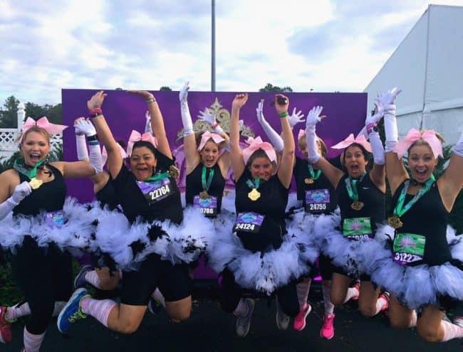 Princess Half marathon 10K jump shot