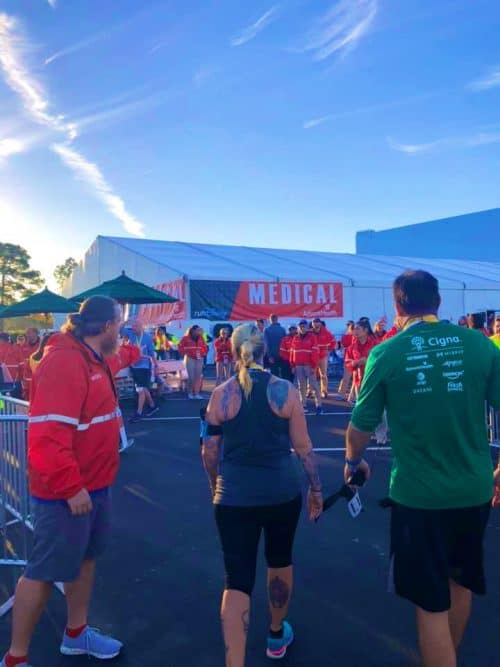 runDisney medical tent and volunteers
