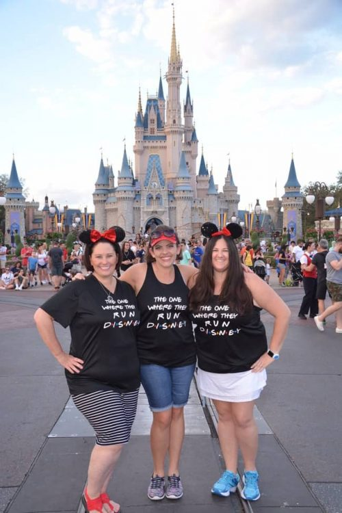 the one where we runDisney shirts worn by rundisney travel agents