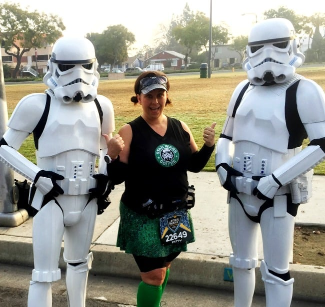 Star Wars half marathon with storm troopers