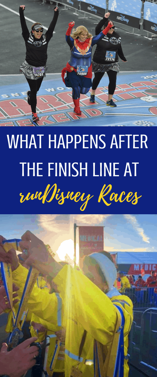 finish line at a runDisney race