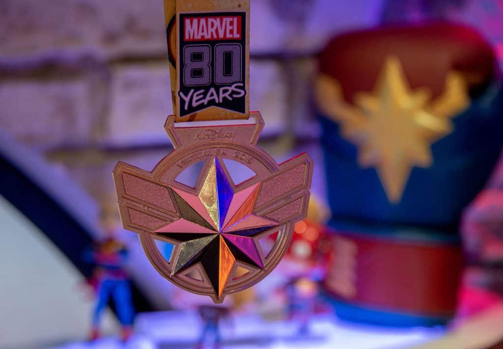 Captain Marvel 5K medal