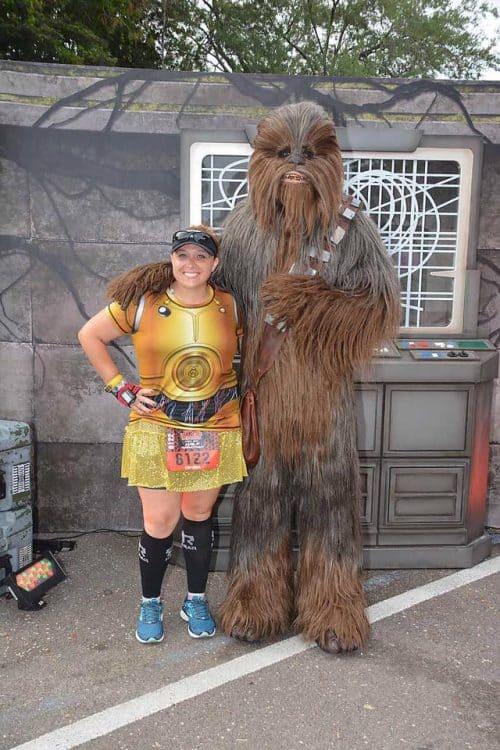 Chewbacca runDisney character stop Star Wars race