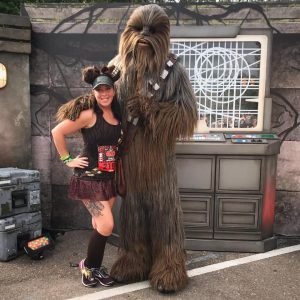 chewbacca on the runDisney course