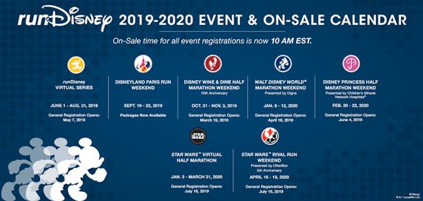rundisney race calendar 2019 2020