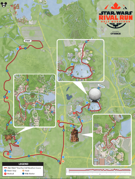 runDisney Star Wars Half Marathon 2019 Course Maps, Event Guide and Corrals