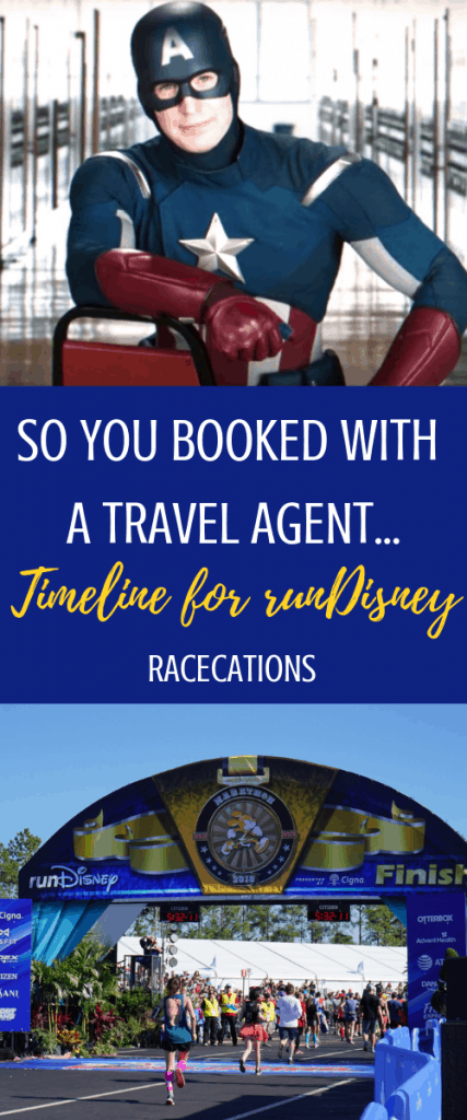 Did you book a runDisney race with a travel agent? Here's a useful timeline of events after you book bibs for runDisney with a travel agent. Bonus: why you might want to book runDisney with a TA!