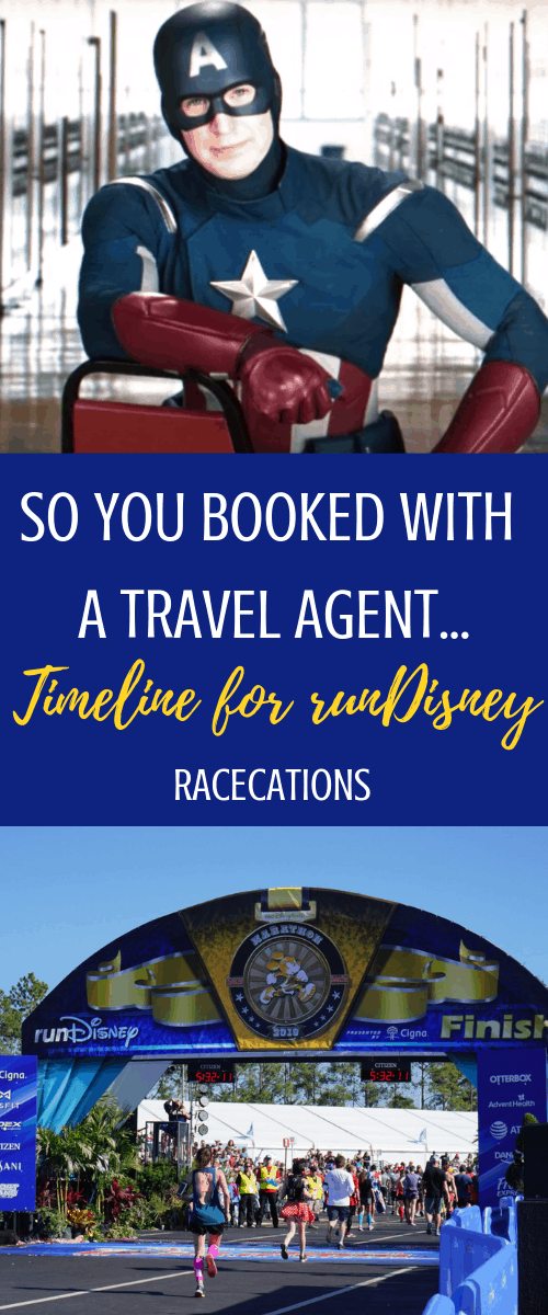 Did you book a runDisney race with a travel agent? Here's a useful timeline of events after you book bibs for runDisney with a travel agency like No-Guilt Travel. Bonus: why you might want to book runDisney with a TA!