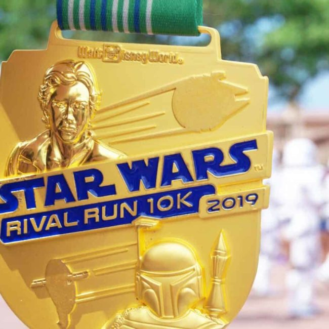 rival run 10K medal with storm troopers behind it