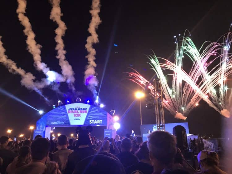 fireworks start of rival run 10K