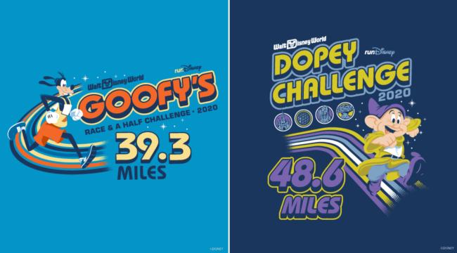 runDisney 2020 marathon weekend Goofy and Dopey Design