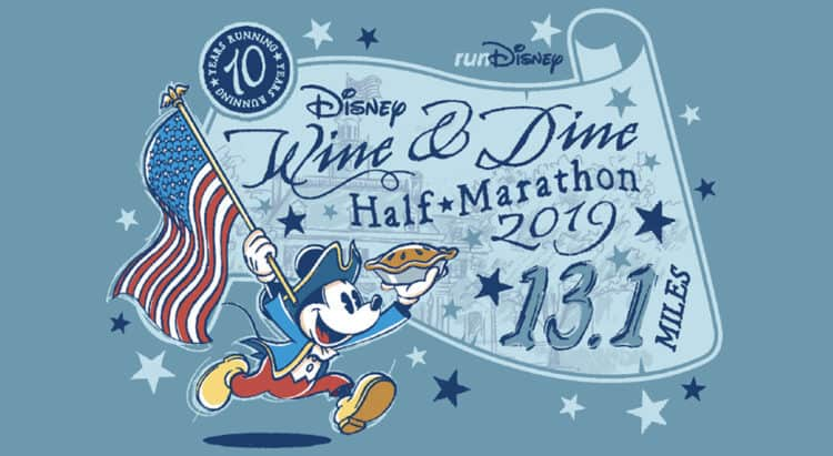 Wine and Dine half marathon 10th anniversary patriotic mickey