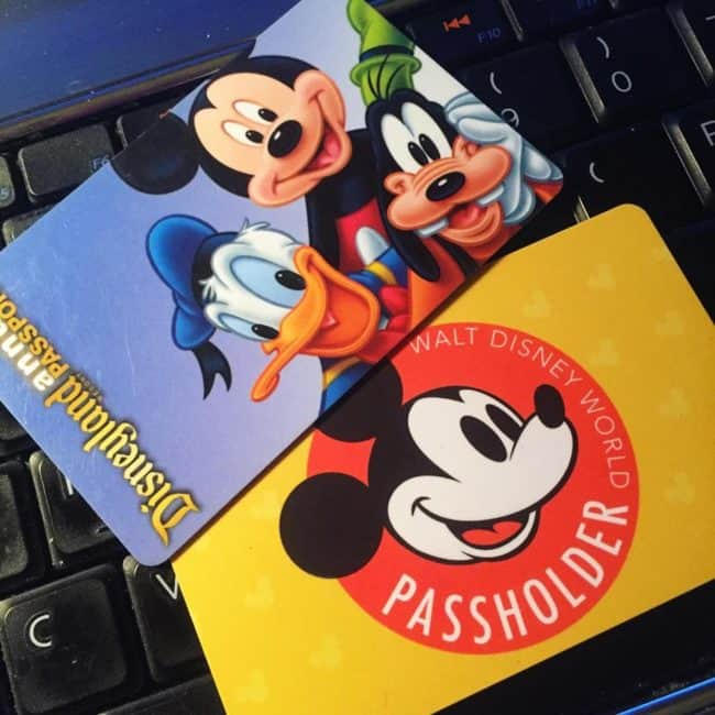 Disney World and Disneyland Annual Passes