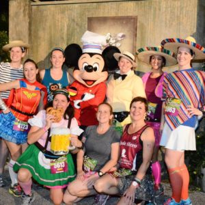 runDisney Wine and Dine prerace picture with Chef Mickey Mouse