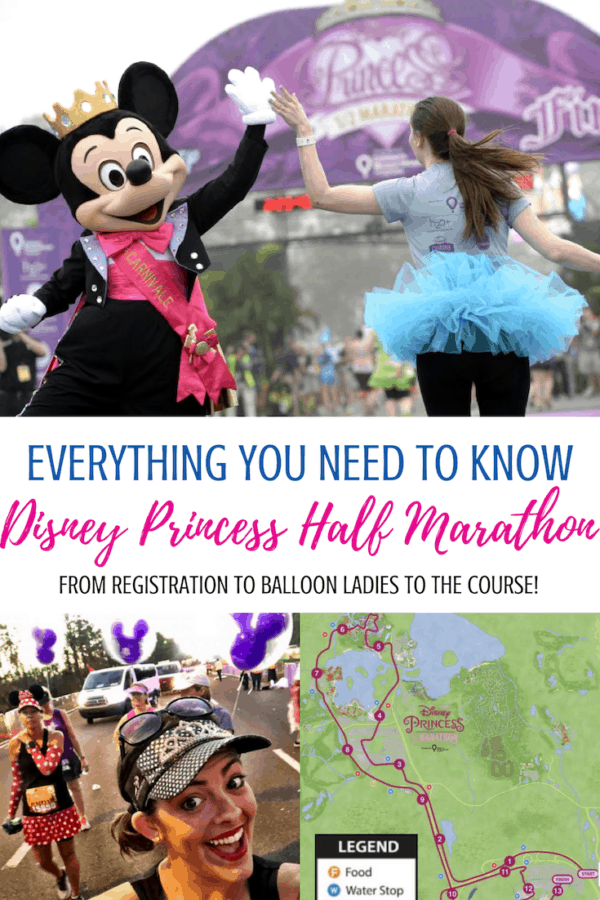 Ready to run the Disney Princess Half Marathon? You'll need all the details from registration to costumes to make this runDisney finish line happen! #rundisney #princesshalfmarathon #princesshalf #waltdisneyworldtips