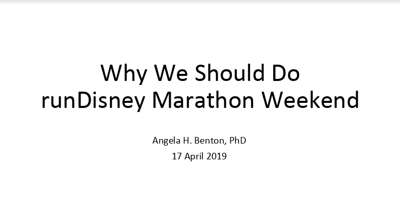 why you should rundisney a powerpoint presentation