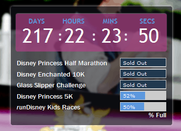 princess half marathon countdown