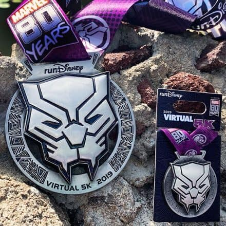 rundisney virtual black panther medal