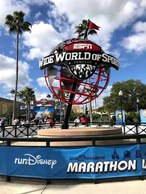 ESPN globe at the runDisney Expo- you can sometimes register for sold out rundisney races at the expo