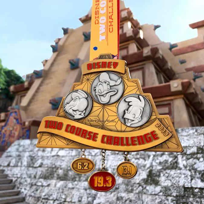 rundisney wine and dine challenge medal 3 caballeros medal