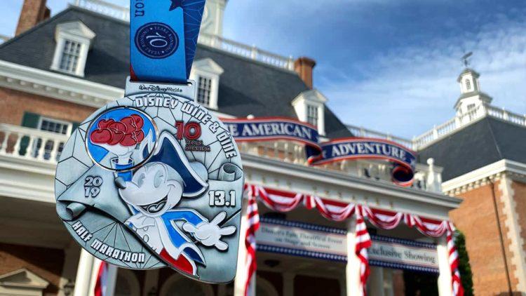 2019 Wine and Dine half marathon medal