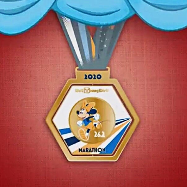 Minnie Mouse 2020 runDisney Marathon medal