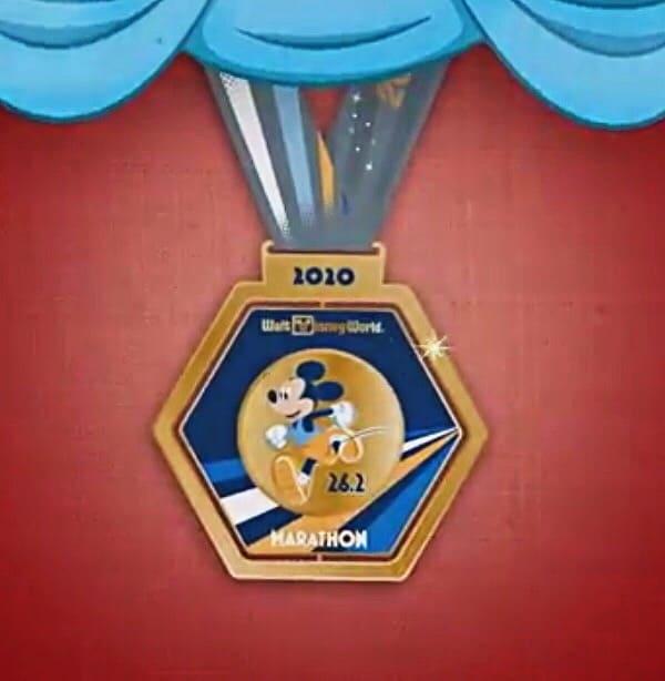 Mickey Mouse 2020 runDisney Marathon medal