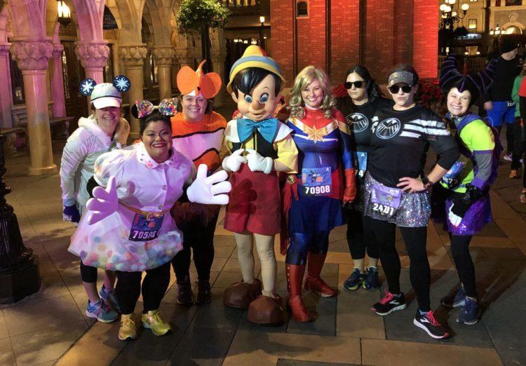 Pinocchio group shot runDisney