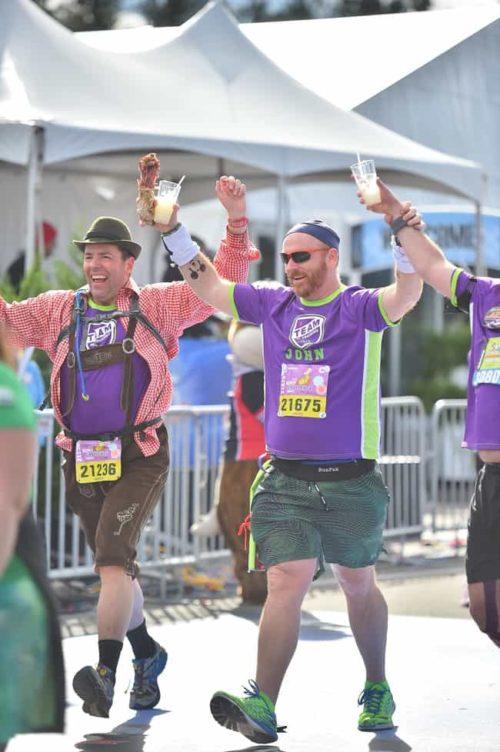 Crossing the Finish at Walt Disney World Marathon for LLS