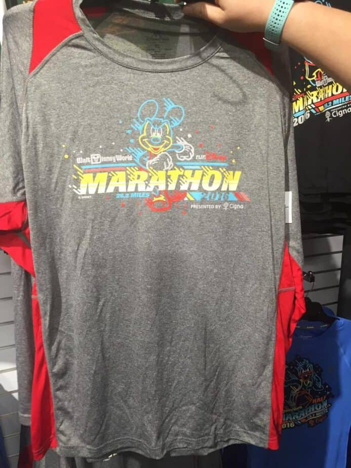 runDisney merchandise at the Disney Outlets in Orlando Marathon I did it shirt