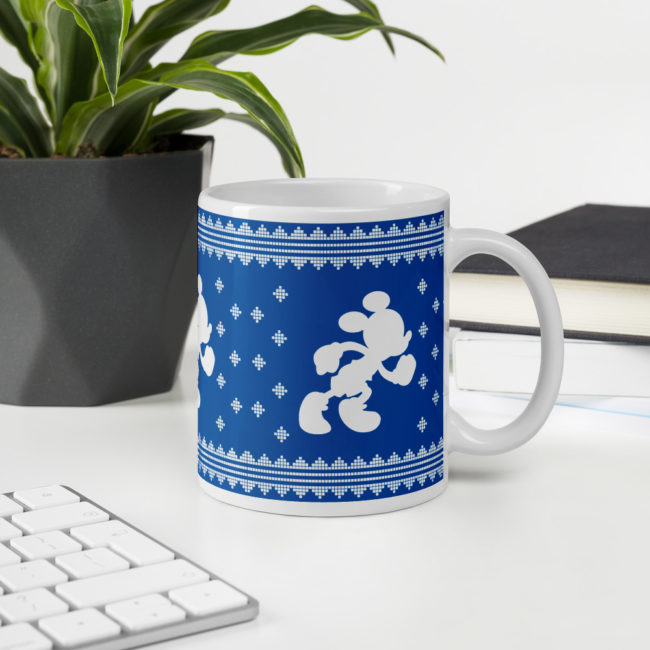 rundisney ugly sweater coffee mug running mickey