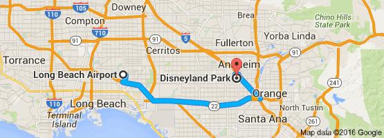 Long Beach Airport to Disneyland