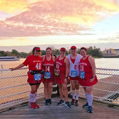 what happens after you book with with a runDisney travel agent- High School Musical wildcats running costumes