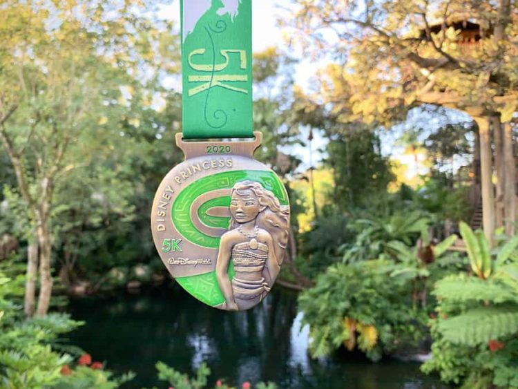 Moana 5K Medal runDisney Princess Half Marathon weekend