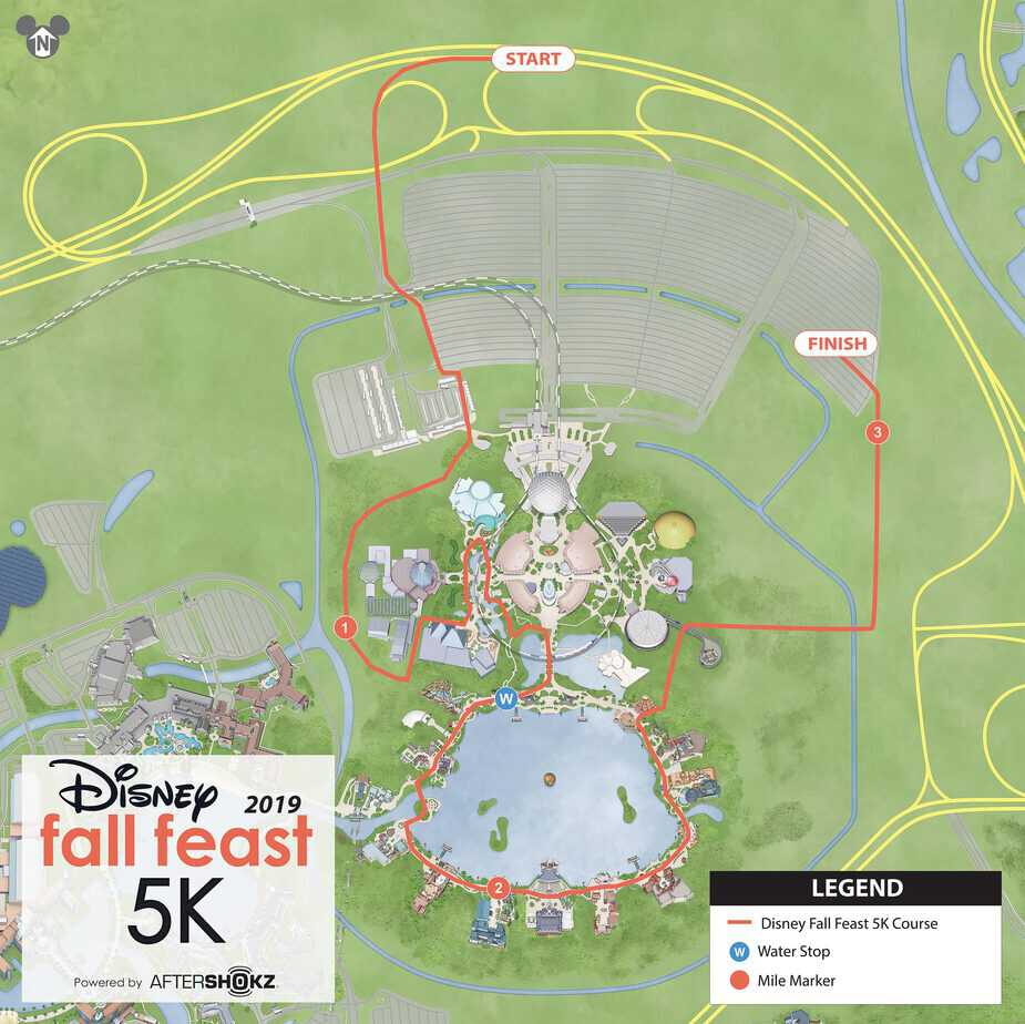 wine dine 5K fall fest course map