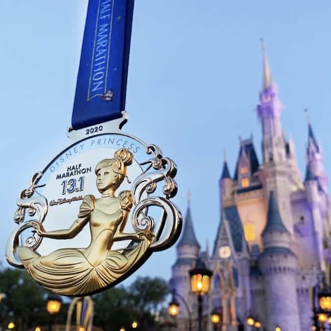 2020 Princess Half Marathon Medal Cinderella