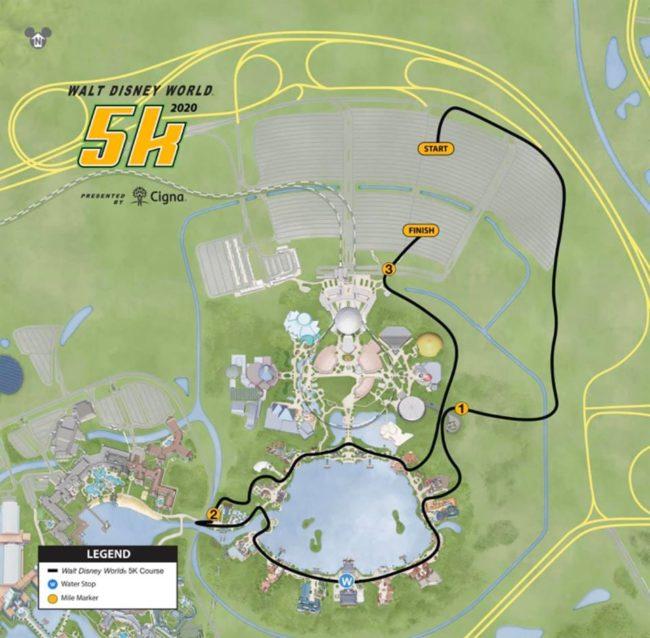2020 Disney World Marathon Weekend 5K course map