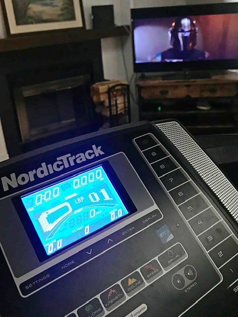 watch the mandalorian on disney plus on the treadmill