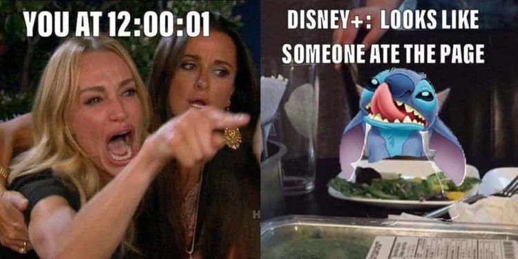 funny disney plus memes stitch ate the page