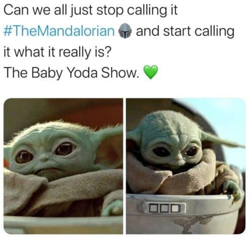 The Baby Yoda show meme